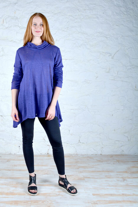 Alex top made in a royal blue jersey knit