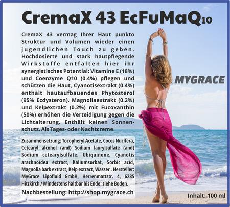 MYGRACE CremaX 43 EcFuMaQ10 100 ml