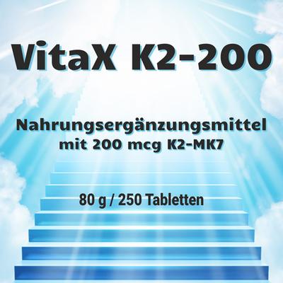 MyGrace VitaX K2-200 mit 200 mcg K2-MK7 / 250 Tabletten