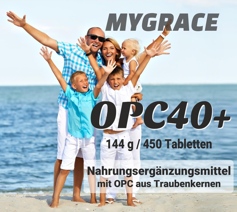 6 x MYGRACE OPC40+ Traubenkernextrakt mit 450 Tabletten à 50 mg
