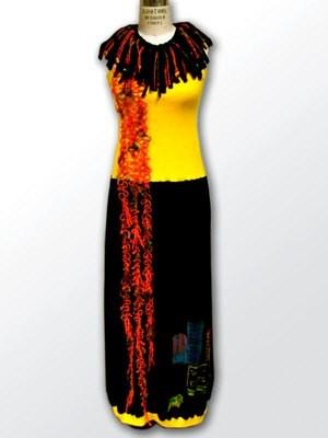 FIFTH ELEMENT Fire - Dress & Necklace