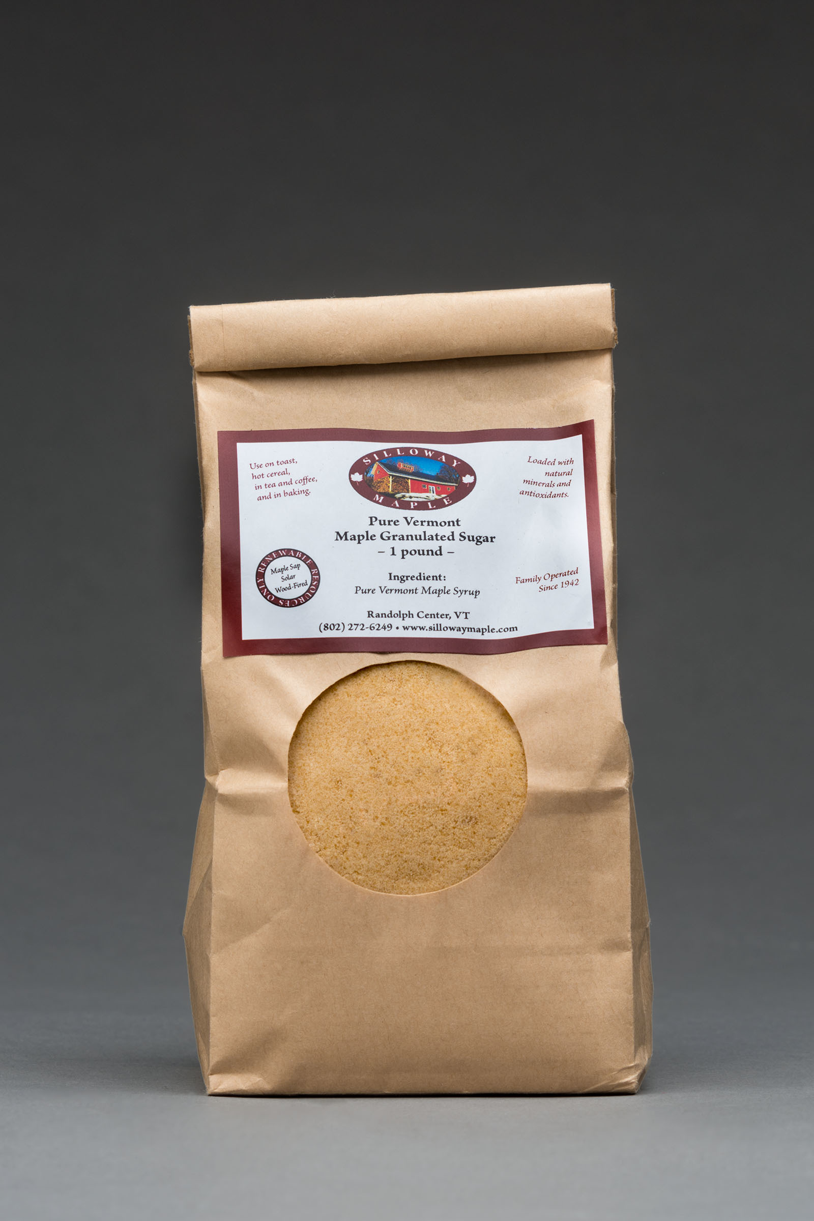 Pure Maple Granulated Sugar  1 Pound Bag