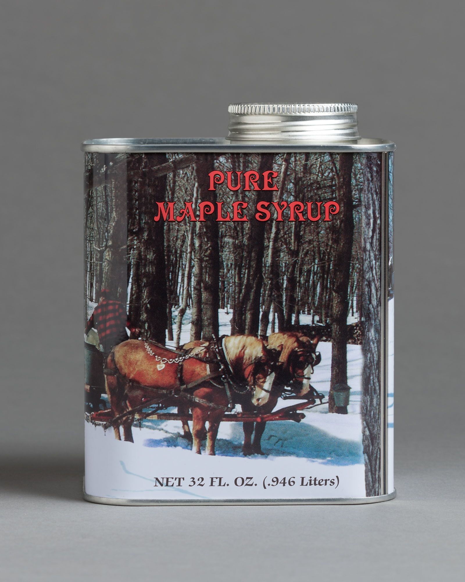 Maple Syrup Metal Can, 1 quart 00031