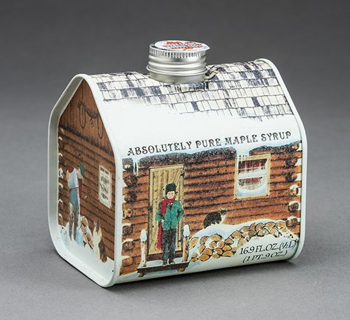 Maple Syrup Metal Log Cabin, 16.9 ounces