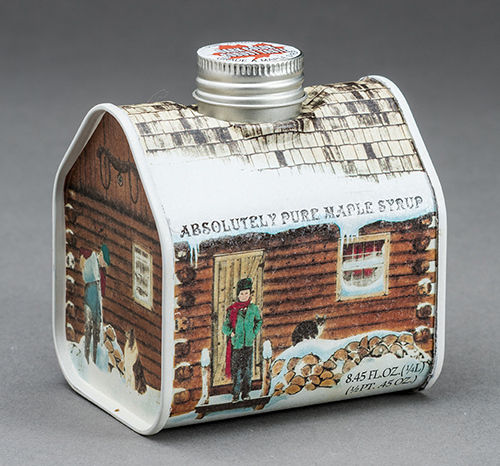 Maple Syrup Metal Log Cabin, 8.5 ounces 00036