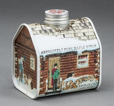 Maple Syrup Metal Log Cabin, 8.5 ounces