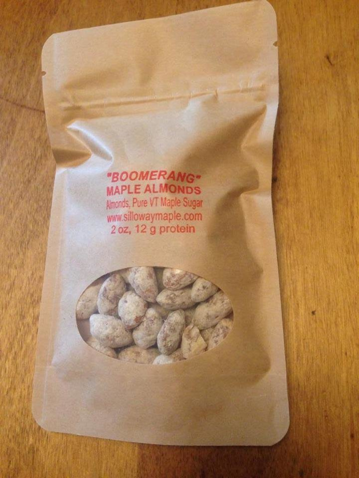 """Boomerang""  2 ounce Maple Almond Pack 00038"