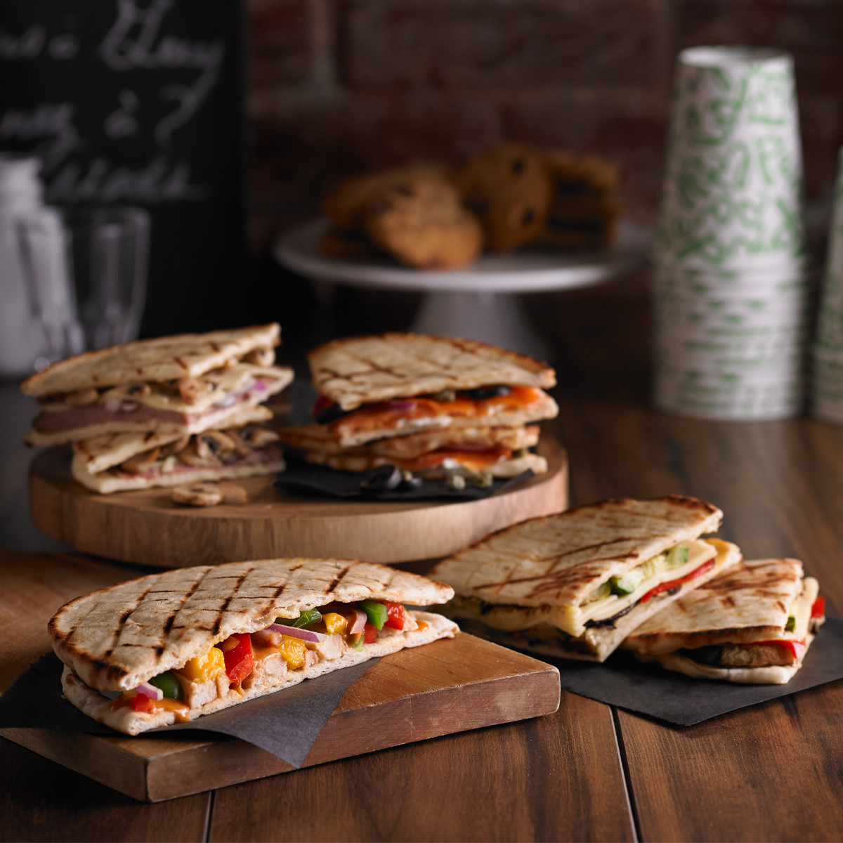 Sandwichs au pain pita assortis