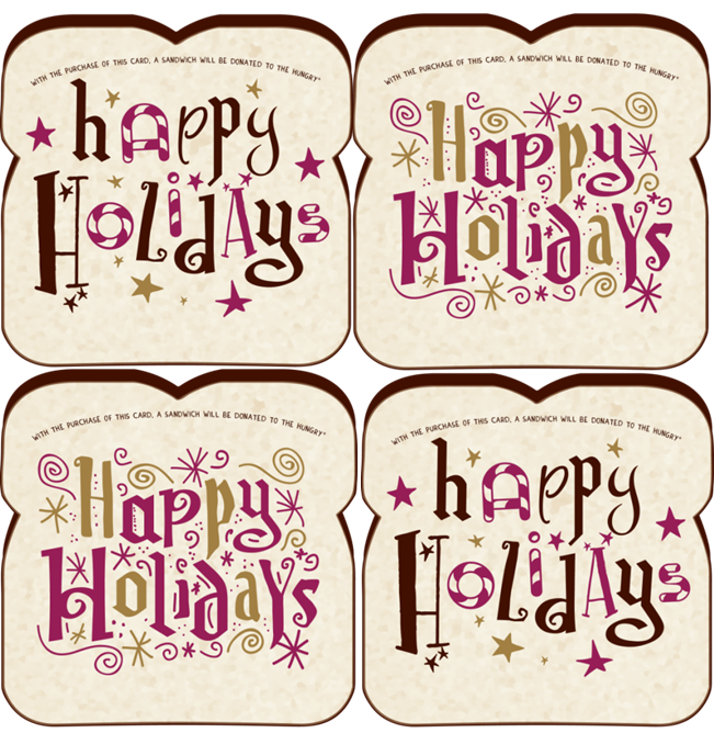 HAPPY HOLIDAYS 4-PACK
