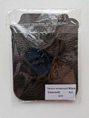 Чехол для КФС из натуральной кожи (цвет черный).