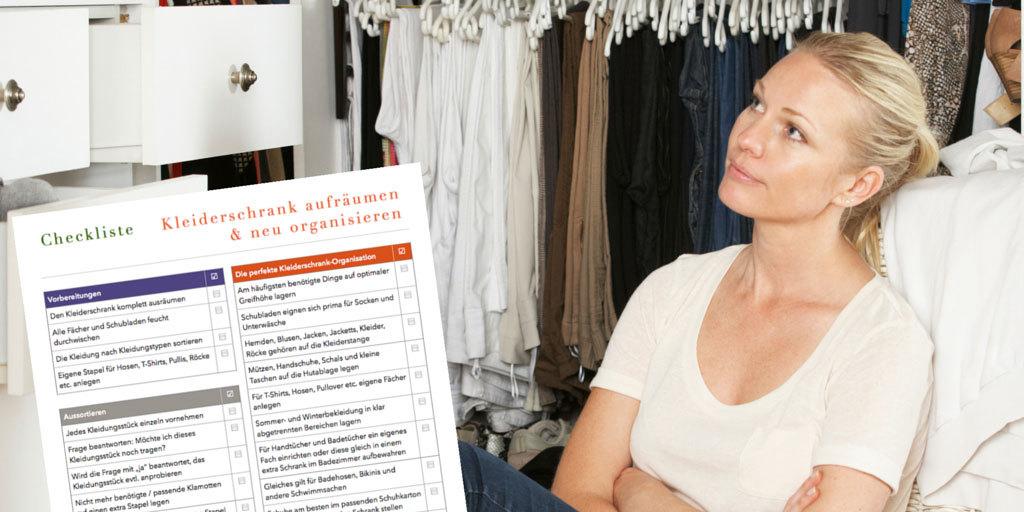Checkliste Kleiderschrank aufraeumen und neu organisieren CL0148
