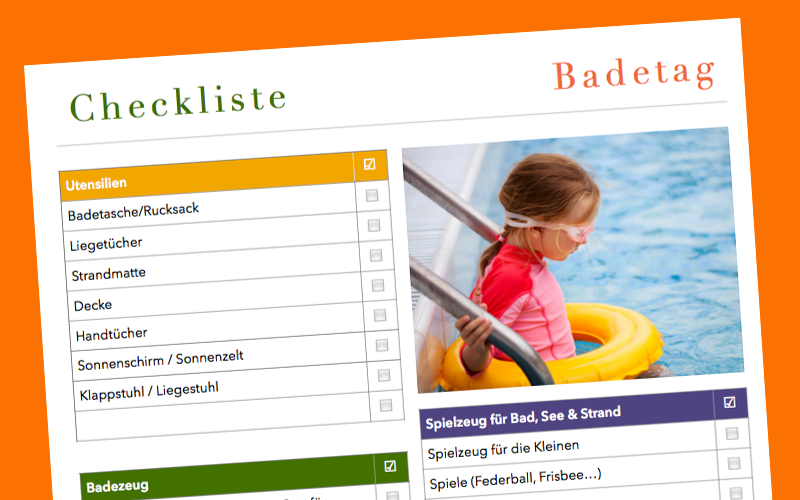 Checkliste Badetag CL0151