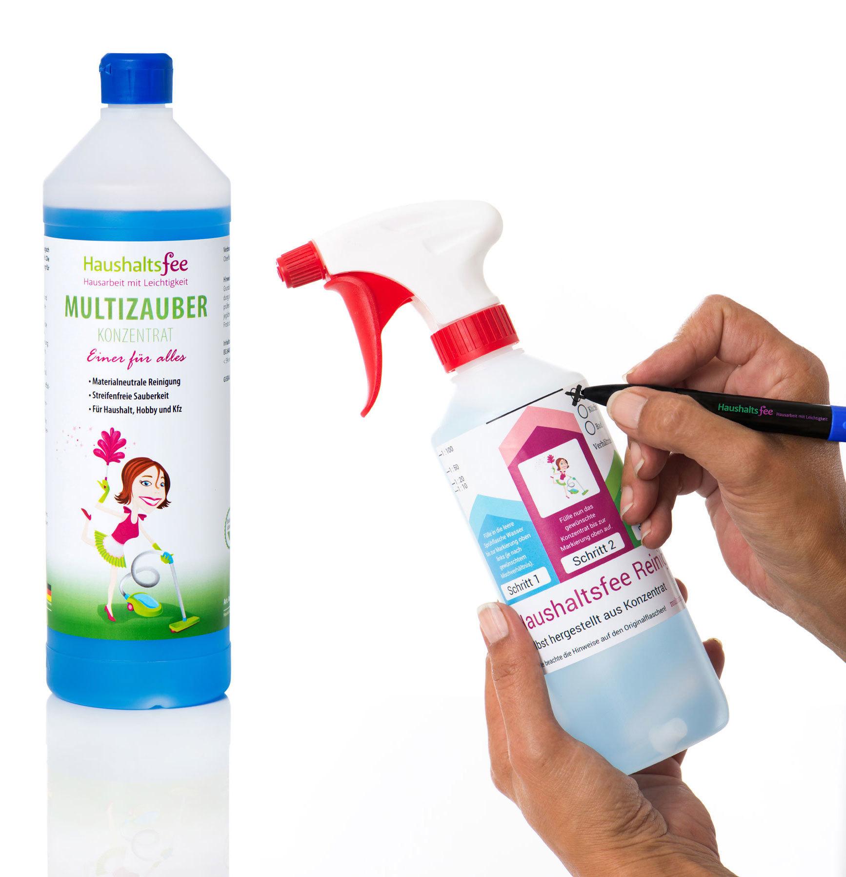 Spar-Set: Multizauber (Konzentrat) 1 Liter + Spruehflasche 500 ml HF-005-KOMBI
