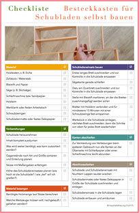 Checklisten Besteckkasten fuer Schublade selbst bauen CL0175