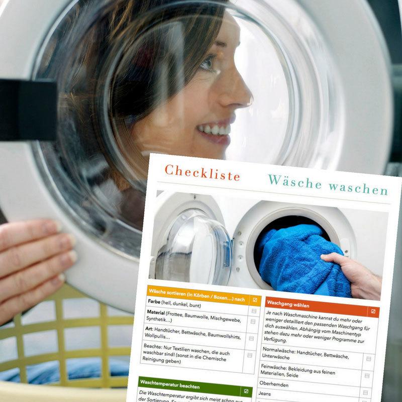 Checkliste Waesche waschen CL0152