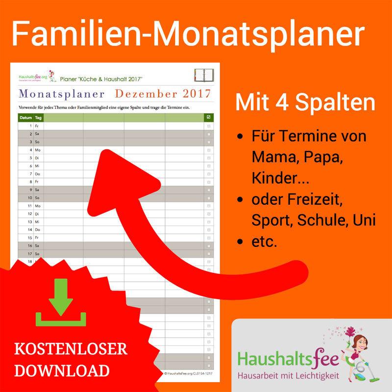 Monatsplaner Familie und Freizeit CL0222