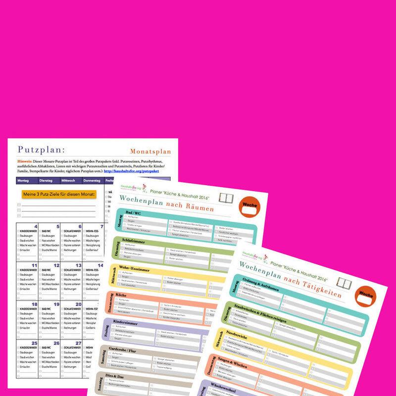 Putzplan-Vorlage: Jeden Monat kostenlos CL0101