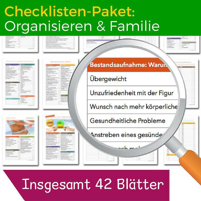 Checklisten-Paket: Organisieren und Familie CP05