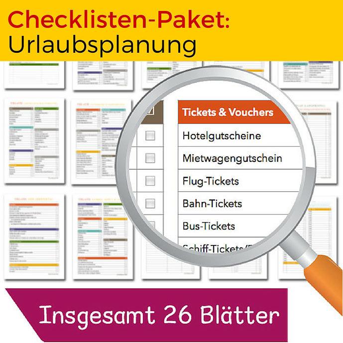 Checklisten-Paket: Urlaubsplanung CP06