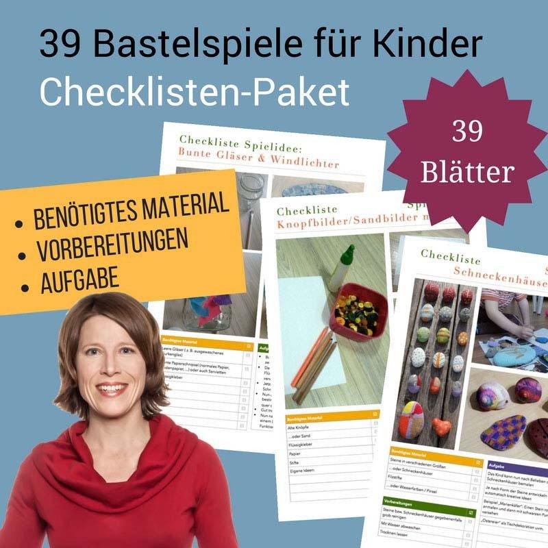 Checklisten-Paket: 39 Bastelspiele für Kinder