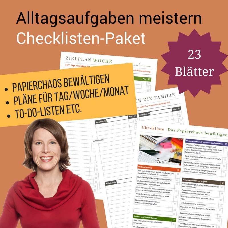 Checklisten-Paket: Alltagsaufgaben meistern CP02