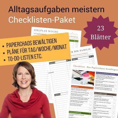 Checklisten-Paket: Alltagsaufgaben meistern