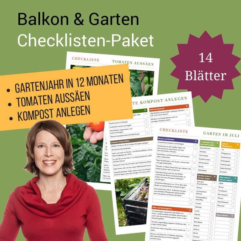 Checklisten-Paket: Balkon und Garten CP07