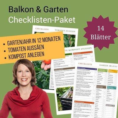 Checklisten-Paket: Balkon und Garten