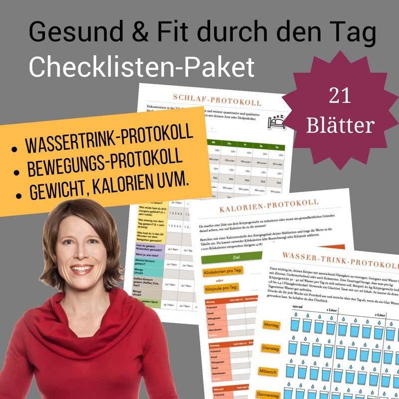 Checklisten-Paket: Gesund & Fit durch den Tag CP010