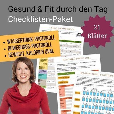 Checklisten-Paket: Gesund & Fit durch den Tag