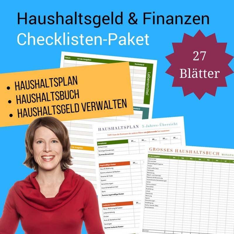 Checklisten-Paket: Haushaltsgeld und Finanzen