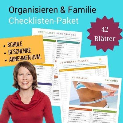 Checklisten-Paket: Organisieren und Familie