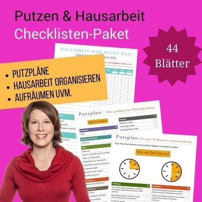 Checklisten-Paket: Putzen und Hausarbeit