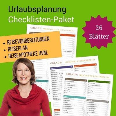 Checklisten-Paket: Urlaubsplanung