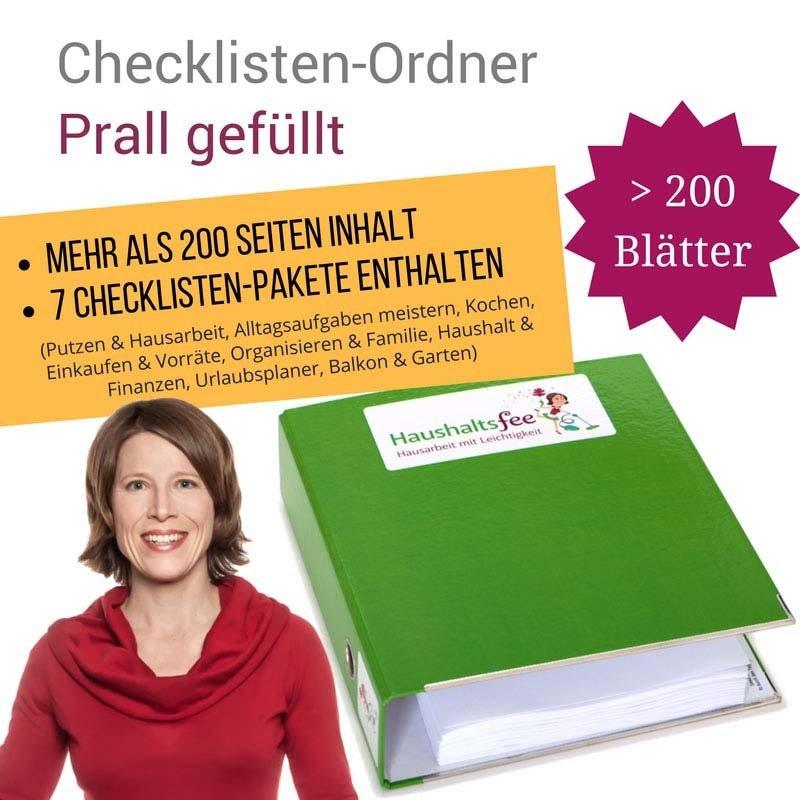 Haushaltsfee Checklisten-Ordner (mit ueber 200 Seiten Inhalt) HF-006