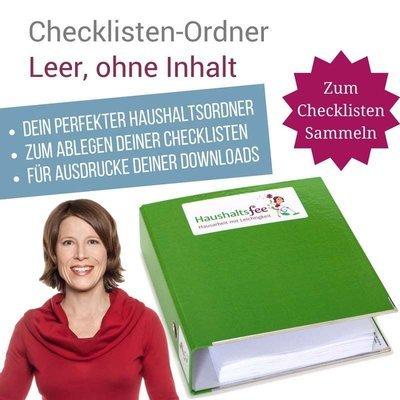 Haushaltsfee Checklisten-Ordner (zum selbst Befuellen, ohne Inhalt)