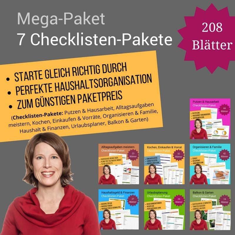 Mega-Paket: 7 Checklisten-Pakete MP01