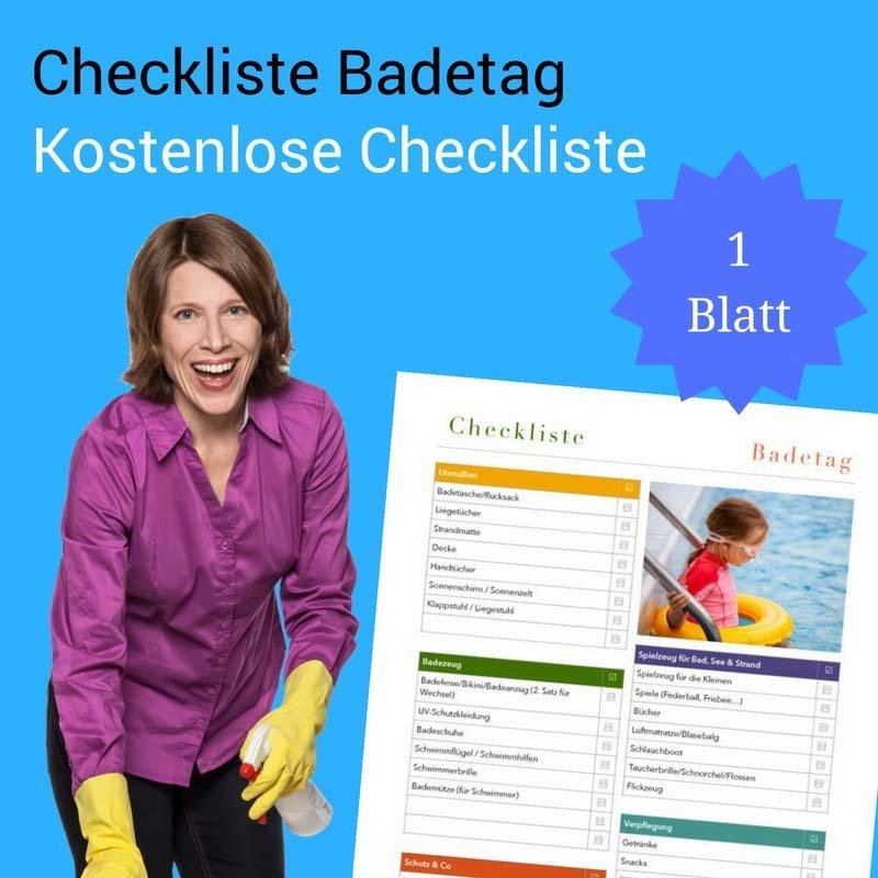 Checkliste Badetag