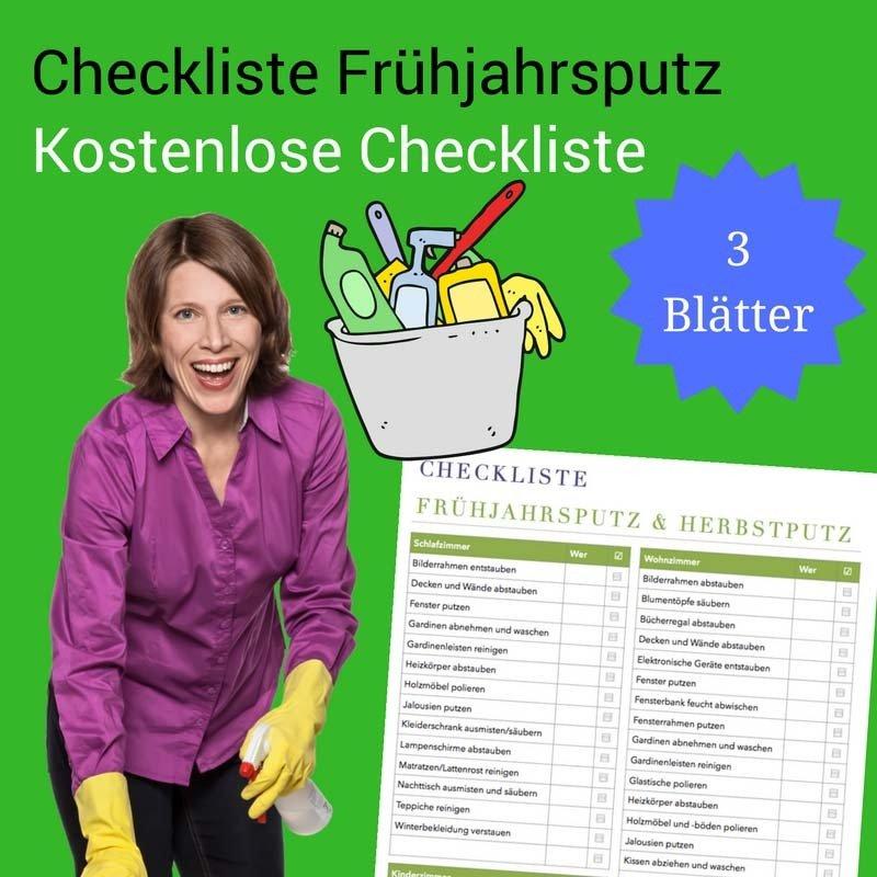 Checkliste Frühjahrsputz und Herbstputz
