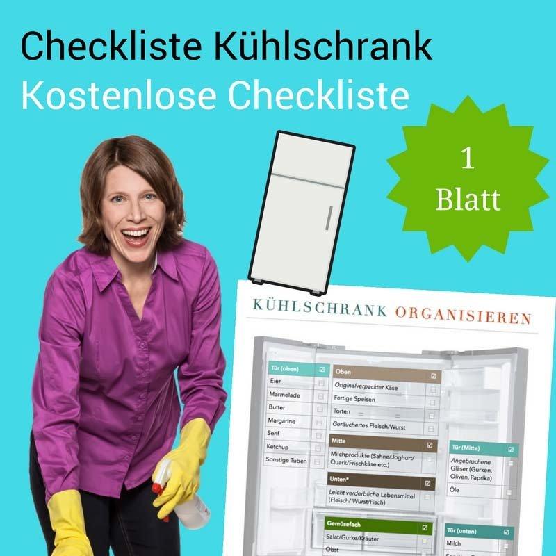 Checkliste Kühlschrank organisieren