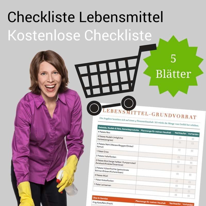 Checkliste Lebensmittel-Grundvorrat