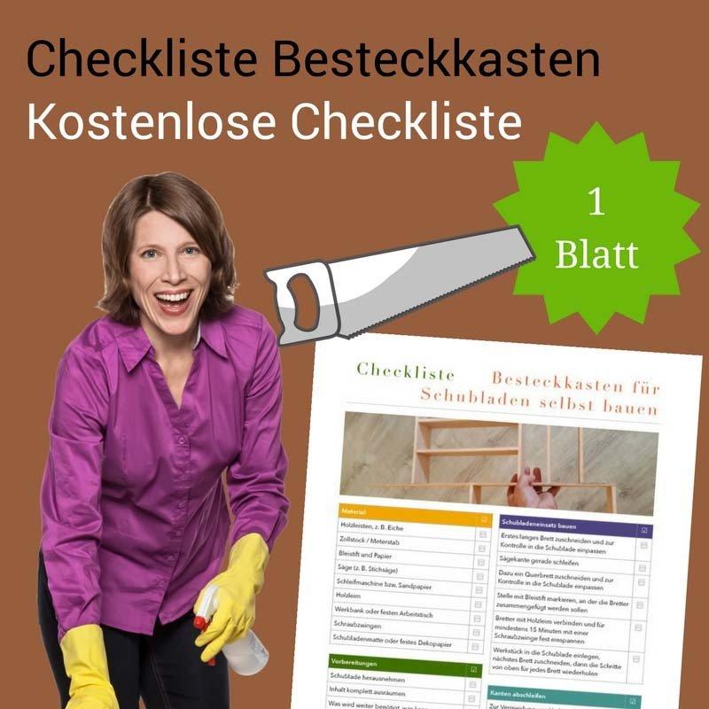 Checklisten Besteckkasten für Schublade selbst bauen