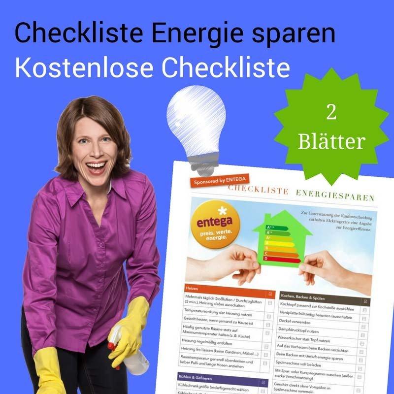 Energiesparen Checkliste