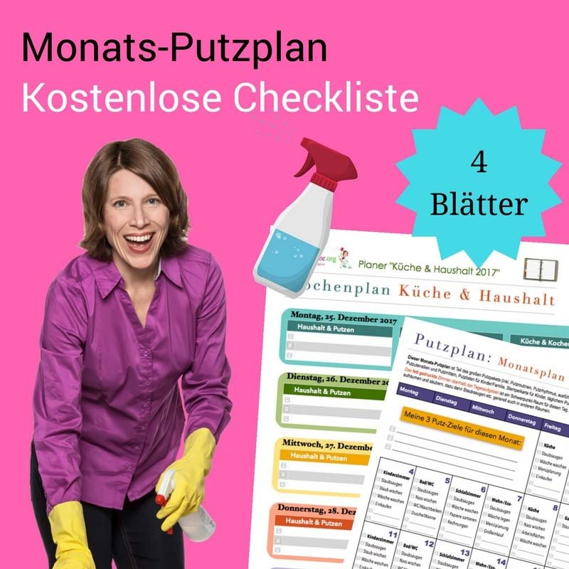 Putzplan-Vorlage: Jeden Monat kostenlos