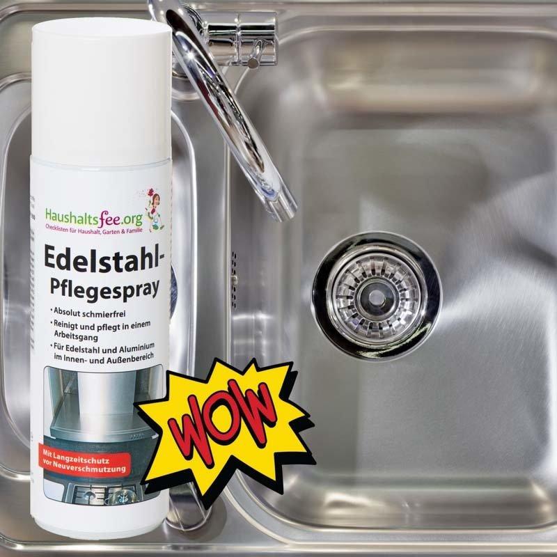 Haushaltsfee Edelstahl-Pflegespray HF-012