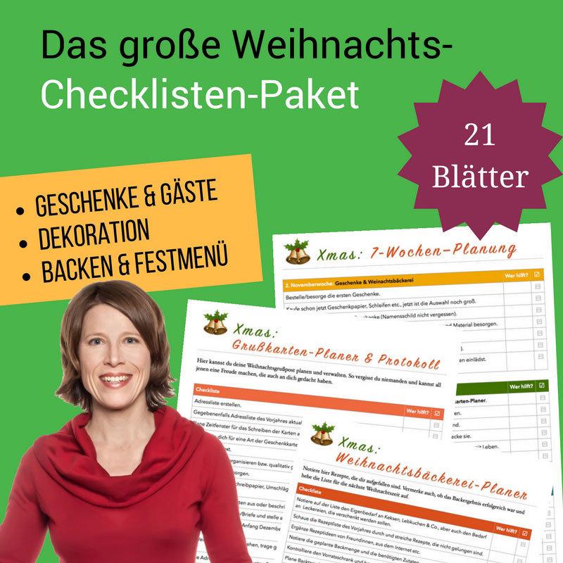 Das große Weihnachts-Checklisten-Paket