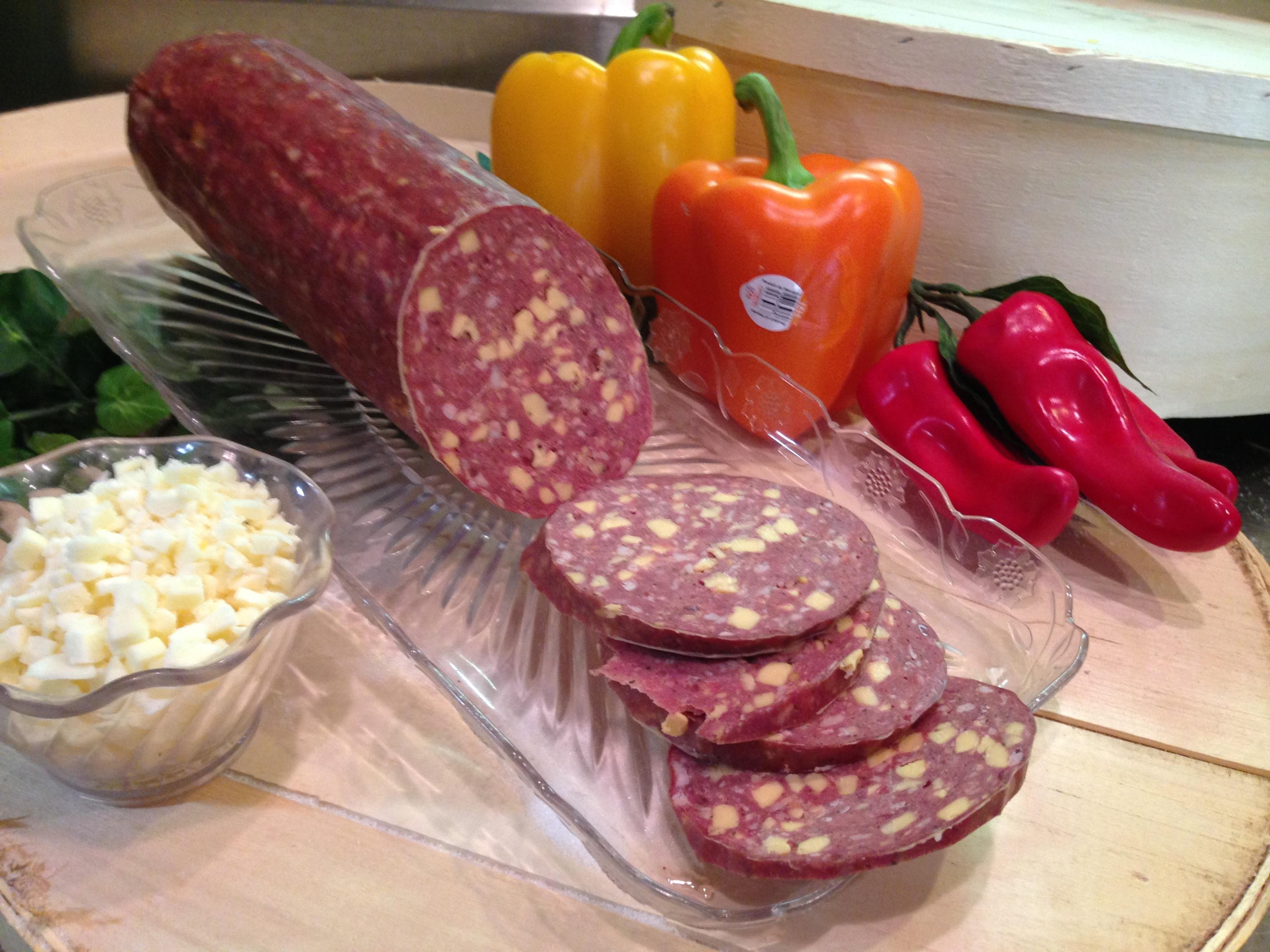 Venison Jalapeno Summer Sausage w/ Cheese 00026