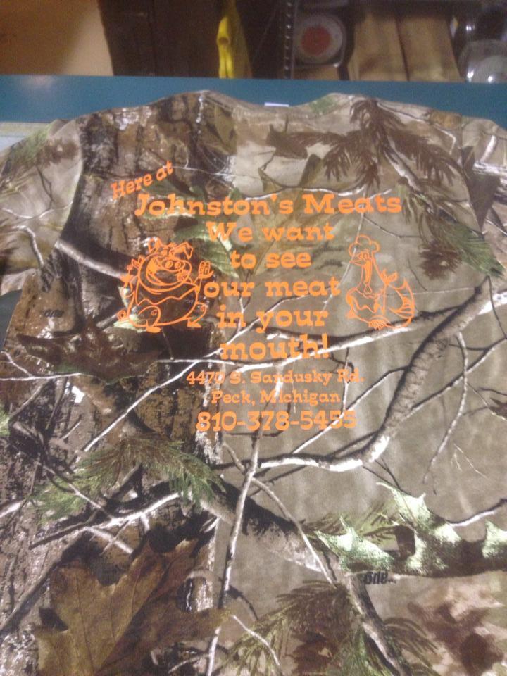 Camo w/ Orange Long Sleeve Shirt 00036