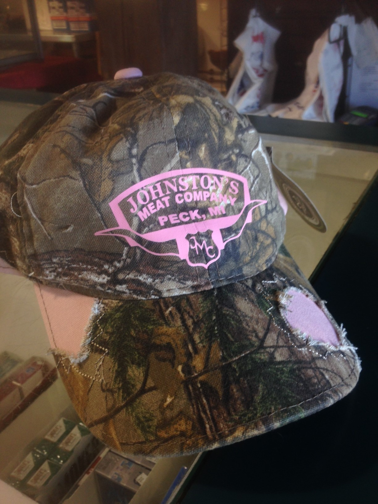 Rough Pink Camo Hat 00044