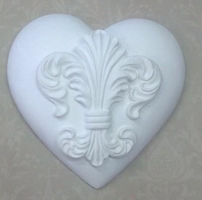 Fancy Fleur de lis  heart